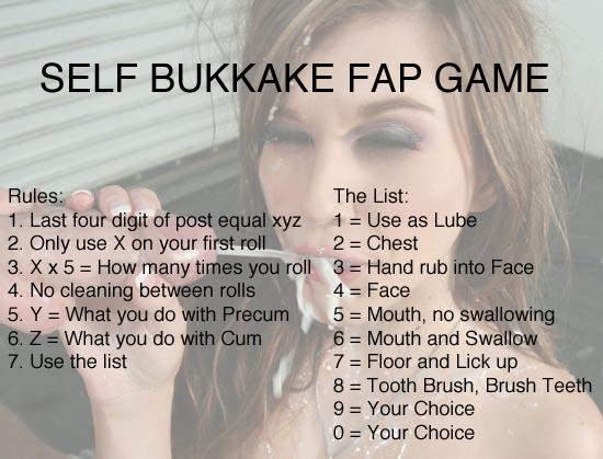 Forced self bukkake