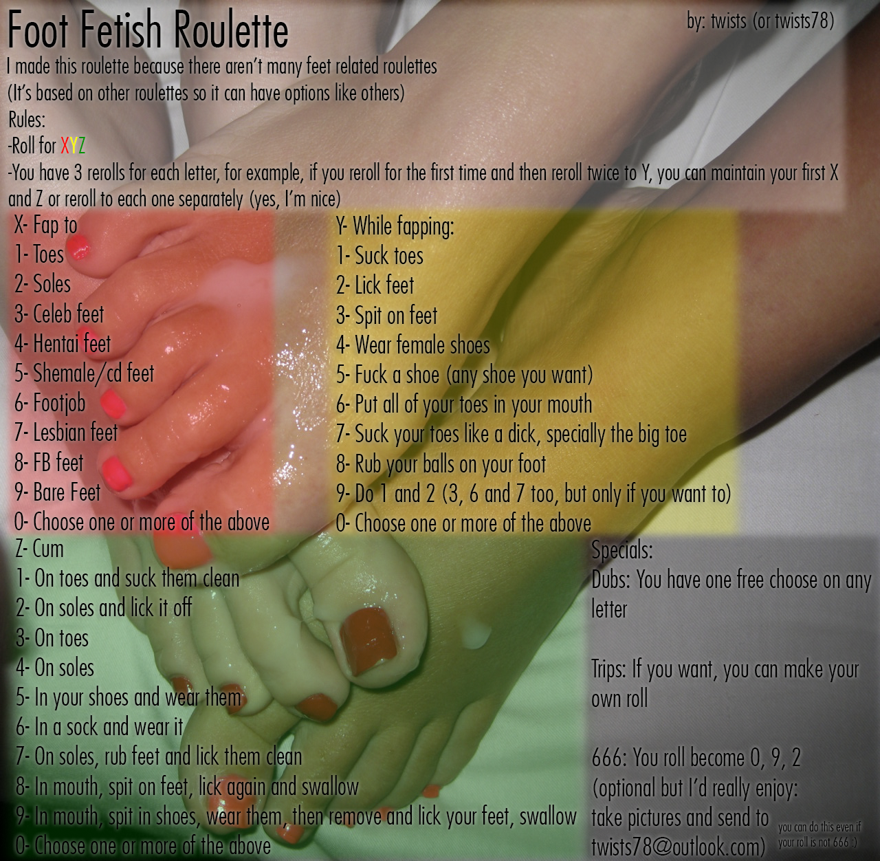 Fetish roulette