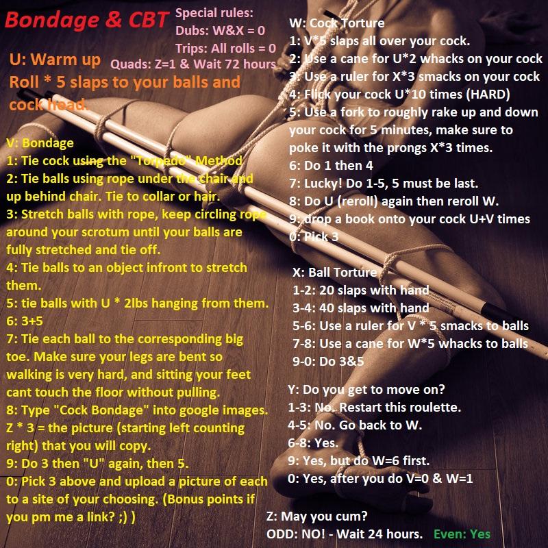 Bondage cbt ball stretching,