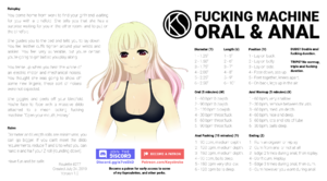 Fucking Machine - Oral and Anal