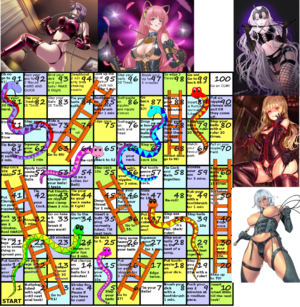 CBT and Anal snakes and ladders game