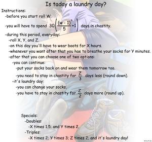 Dirty socks chastity
