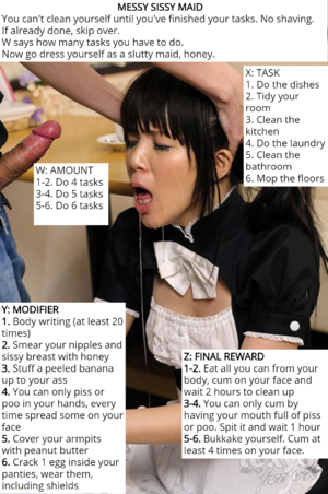 Messy sissy maid roulette