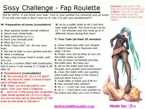 Sissy Challenge - Fap Roulette hatsune miku