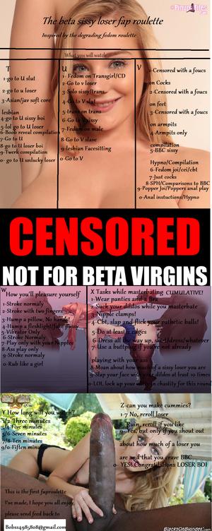 Beta sissy loser fap roulette