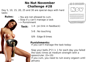 No Nut Novemeber Challenge
