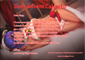 Sissy Advent Calendar