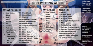 Body writting whore
