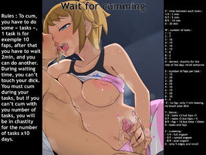 Wait for cumming