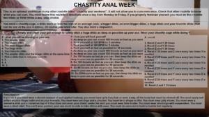 Chastity Anal Week