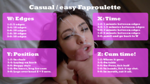 Casual / easy Faproulette