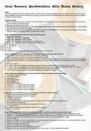 Anal Banana Marshmallow Milk Shake Mixing