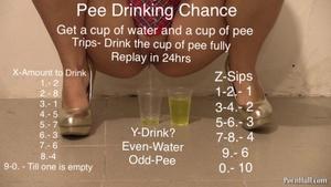 Pee drinking chance