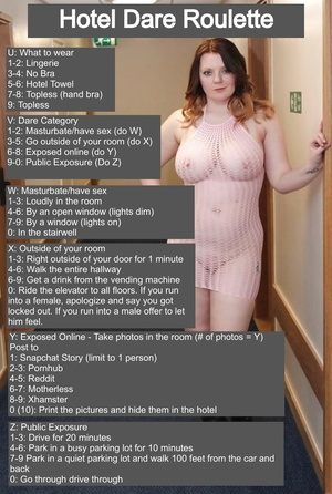 Female Hotel Dare Roulette