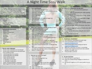 A Night Time Sissy Walk