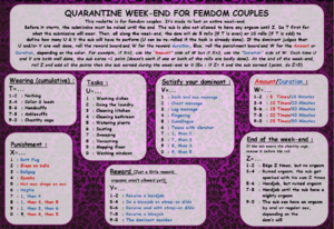 QUARANTINE WEEK-END FOR FEMDOM COUPLES