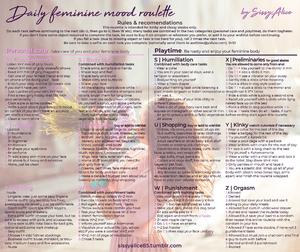 Daily feminization kinky tasks