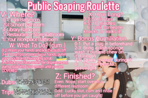 Public Soaping Roulette