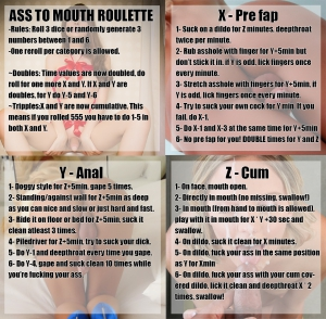 Ass to Mouth Roulette atm a2m