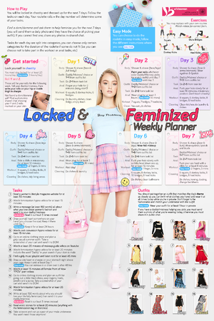 Locked & Feminized Weekly Planner