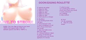 goon edging roulette