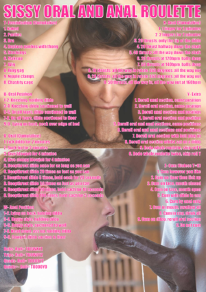 Sissy Oral and Anal Roulette