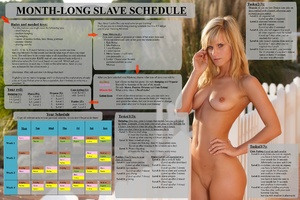 month-long slave schedule