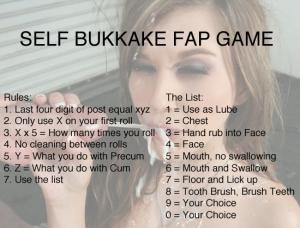 self bukkake fap game