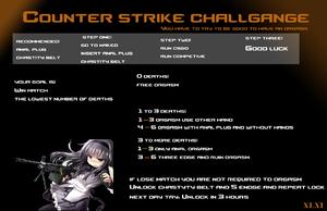Counter strike challange