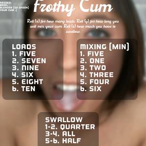 Frothy cum