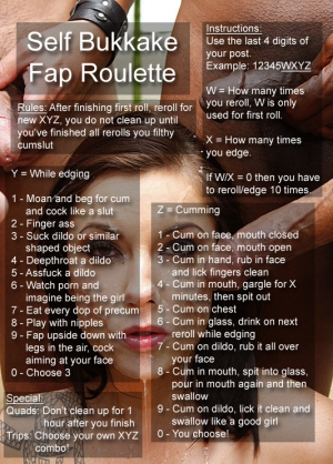 self bukkake fap roulette