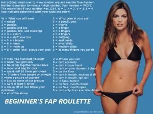 Beginner's fap roulette