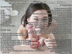 Orgasm Denial Roulette: Big Load Edition