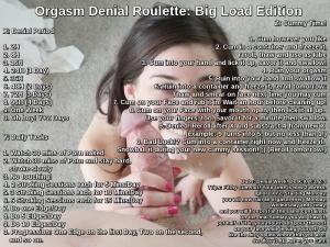 Orgasm Denial Roulette: Big Load Edition