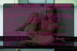 long duration anal roulette