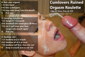 Cum lovers ruined orgasm