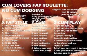cum lovers fap roulette no cum dodging