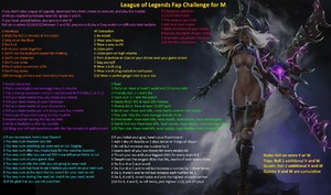 League of Legends Fap challenge for M