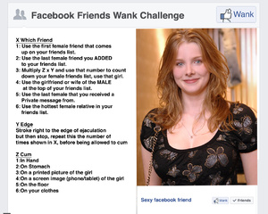 Facebook friends wank session