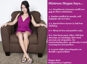 Mistress Megan Says...