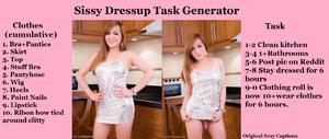 Sissy Dressup Task Generator