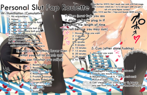 Slut In Training's Personal Roulette