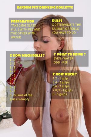 random piss drinking roulette