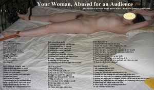 Your woman, abused for an audience!