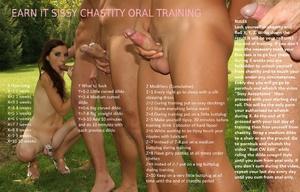 Earn it sissy chastity oral training
