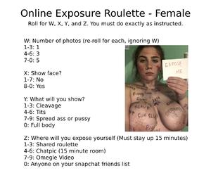 Female Online Exposure Roulette