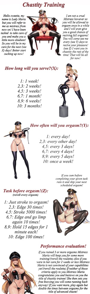 Mistress Marias Chastity Training