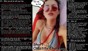 Short Chastity Challenge no Risk no Fun