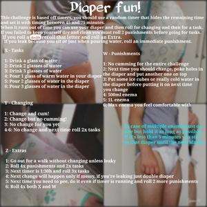 Diaper fun