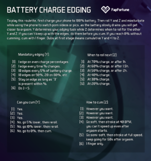 Battery Charge Edging